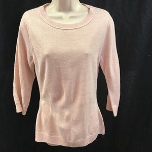 New York & Company Pink Sweater Metallic Small NWT